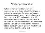 vector presentation