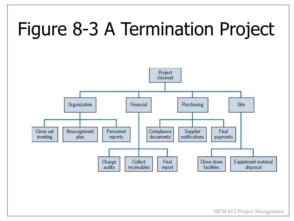 Figure 8-3 A Termination Project