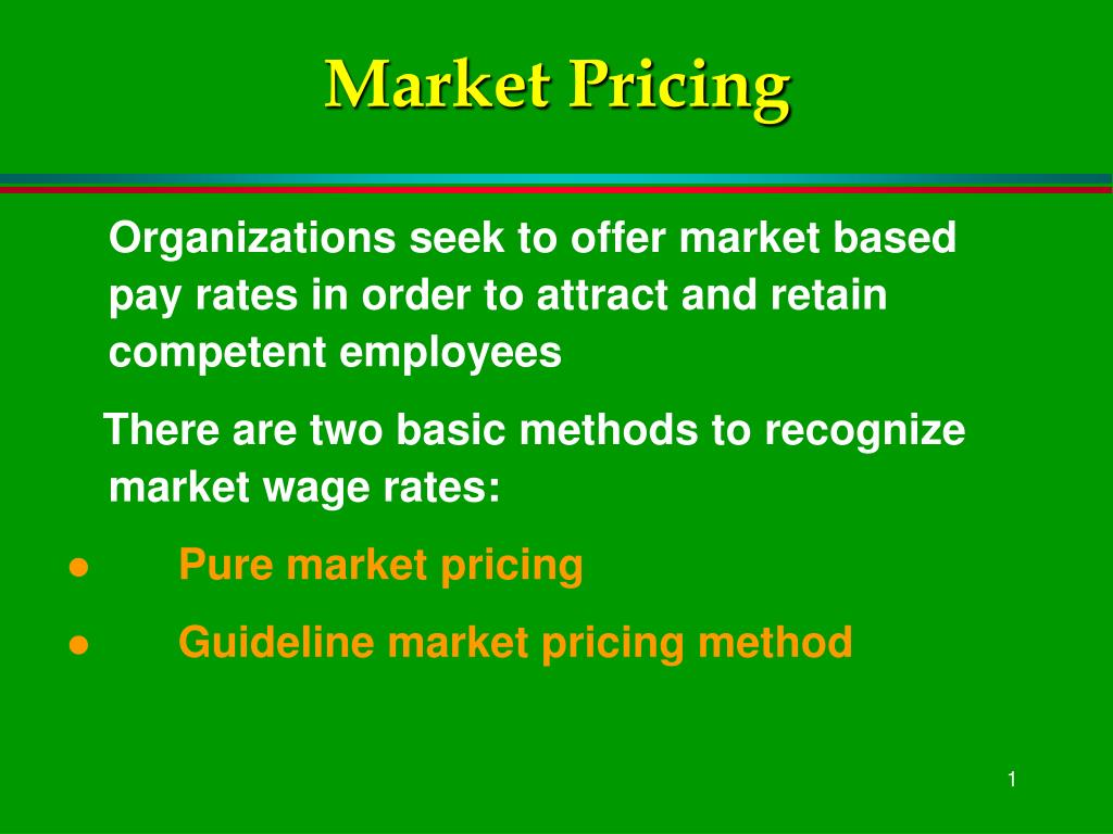 market pricing l.