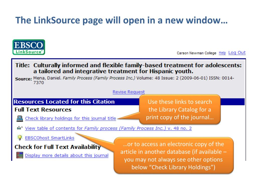 The LinkSource page will open in a new window…