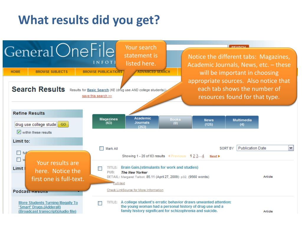 What results did you get?
