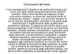 conclusioni del testo