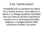 il cd rischio clinico