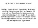 nozione di risk management