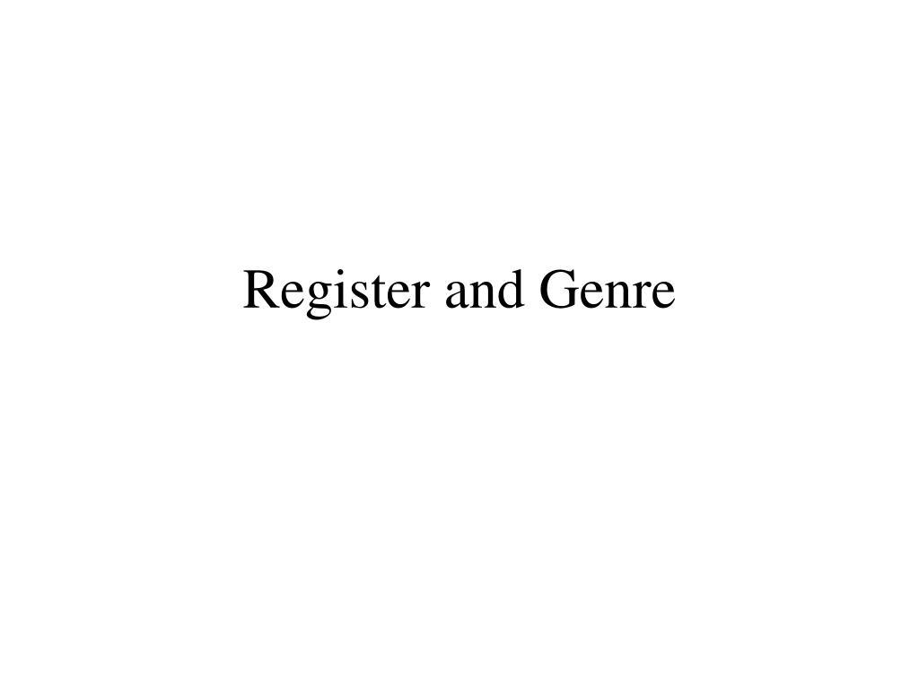 register and genre l.