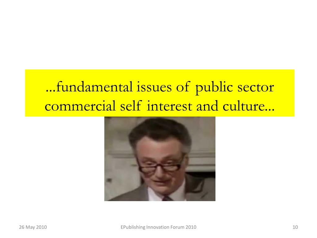 ...fundamental issues of public sector