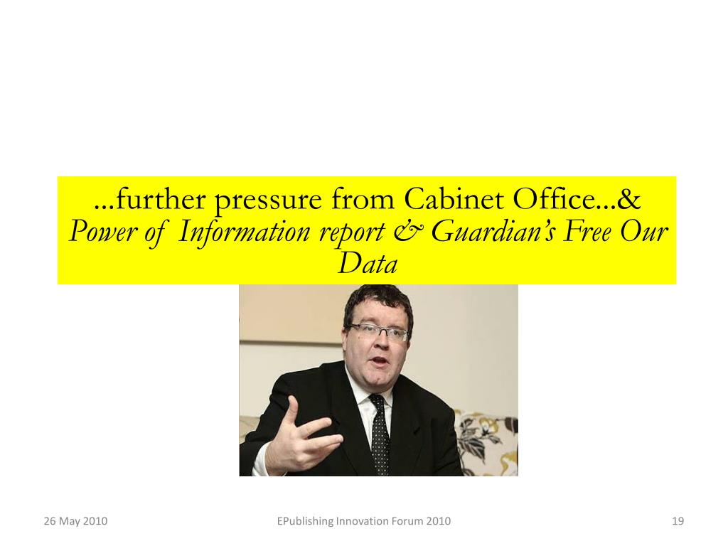 ...further pressure from Cabinet Office...&