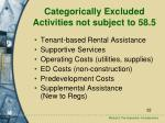 categorically excluded activities not subject to 58 5