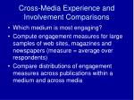 cross media experience and involvement comparisons