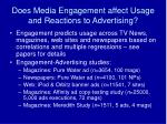 does media engagement affect usage and reactions to advertising