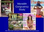 meredith congruency study