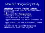 meredith congruency study77