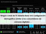 perfil demogr fico canales preferidos de tv abierta