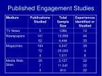 published engagement studies