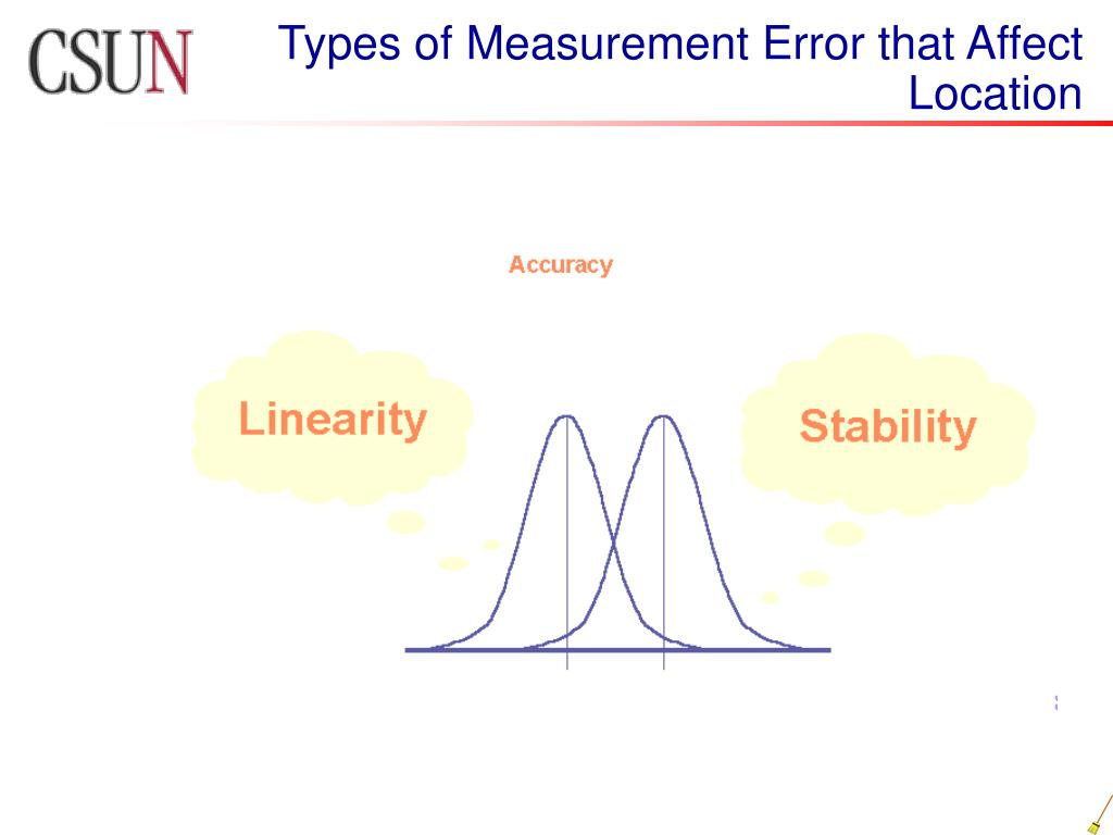 Types of Measurement Error that Affect Location