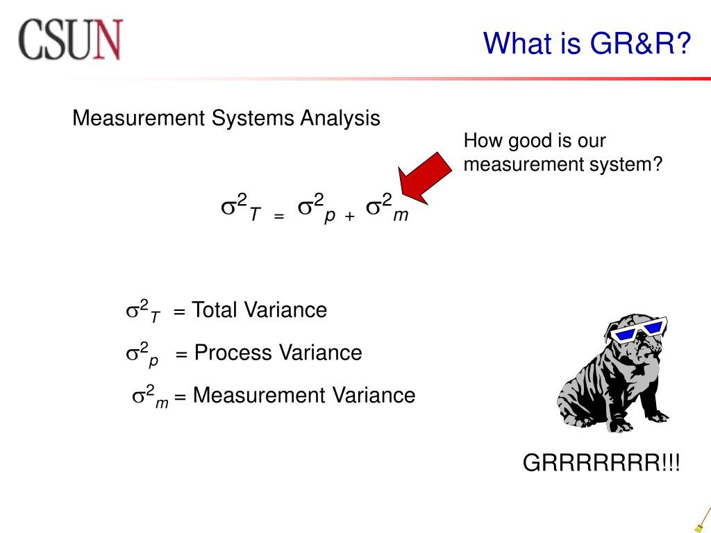 What is GR&R?
