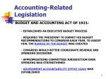 accounting related legislation
