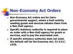 non economy act orders