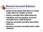 normal account balance