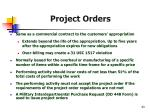 project orders