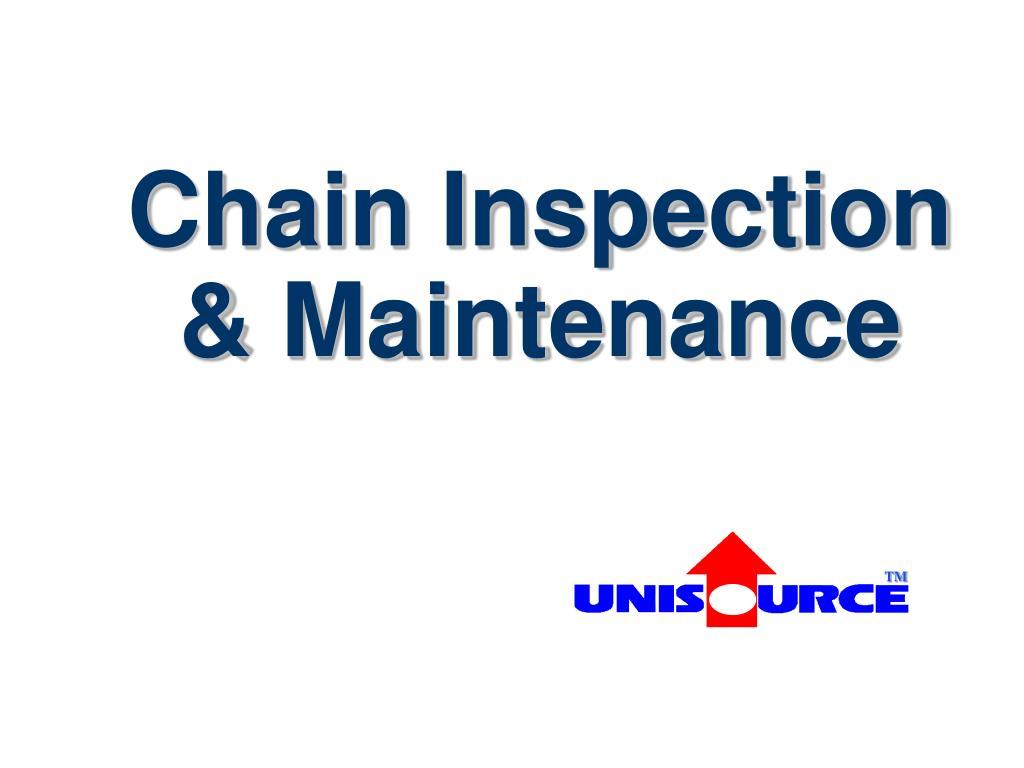chain inspection maintenance l.