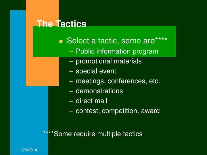 The Tactics