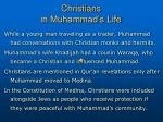 christians in muhammad s life