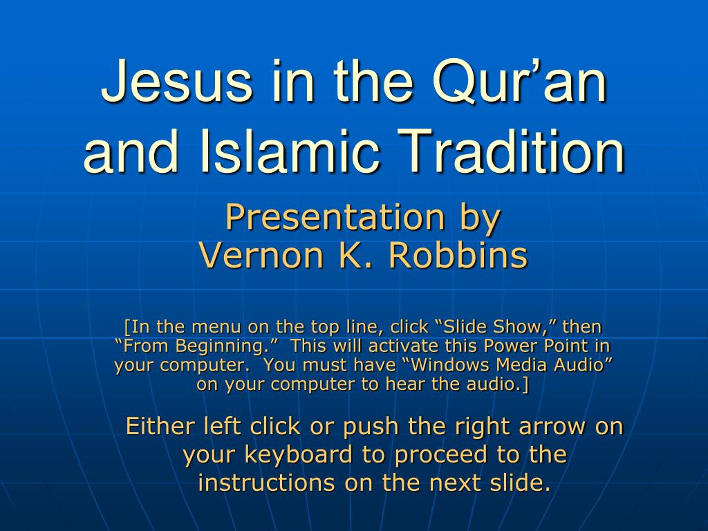 jesus in the qur an and islamic tradition l.