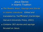 jesus stories in islamic tradition
