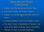 mary and her family in the qur an