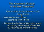 the ancestors of jesus in the new testament
