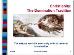 christianity the domination tradition