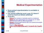 medical experimentation
