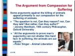 the argument from compassion for suffering