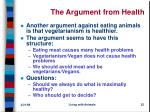 the argument from health
