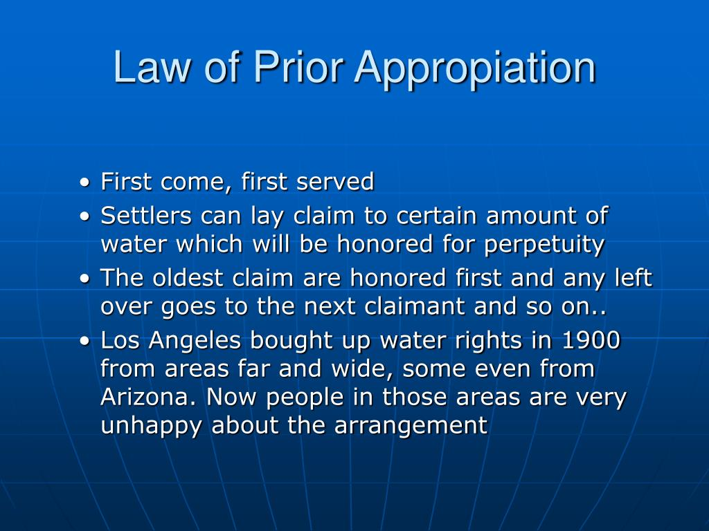 Law of Prior Appropiation