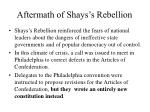 aftermath of shays s rebellion