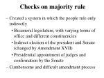 checks on majority rule