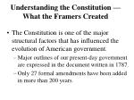understanding the constitution what the framers created