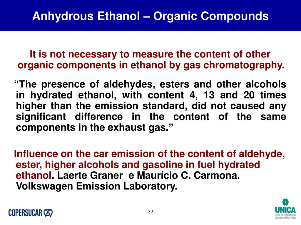 Anhydrous Ethanol – Organic Compounds