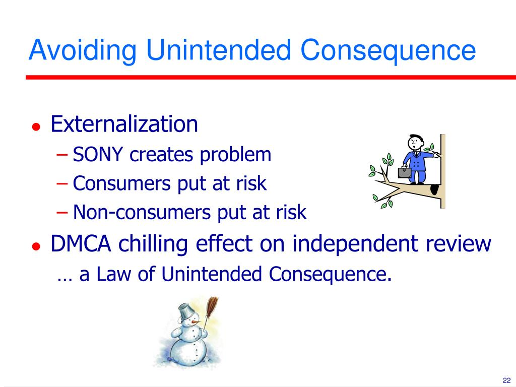 Avoiding Unintended Consequence