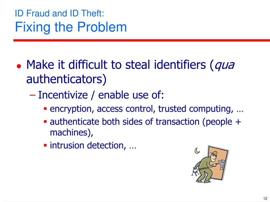 ID Fraud and ID Theft: