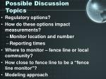 possible discussion topics