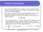 inertia calculations34