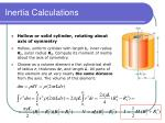 inertia calculations36