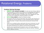 rotational energy problems