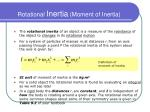 rotational inertia moment of inertia
