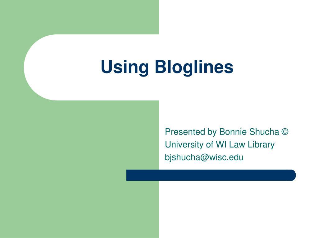 using bloglines l.