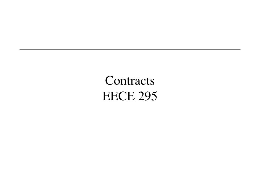 contracts eece 295 l.