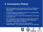 5 conclusions policy
